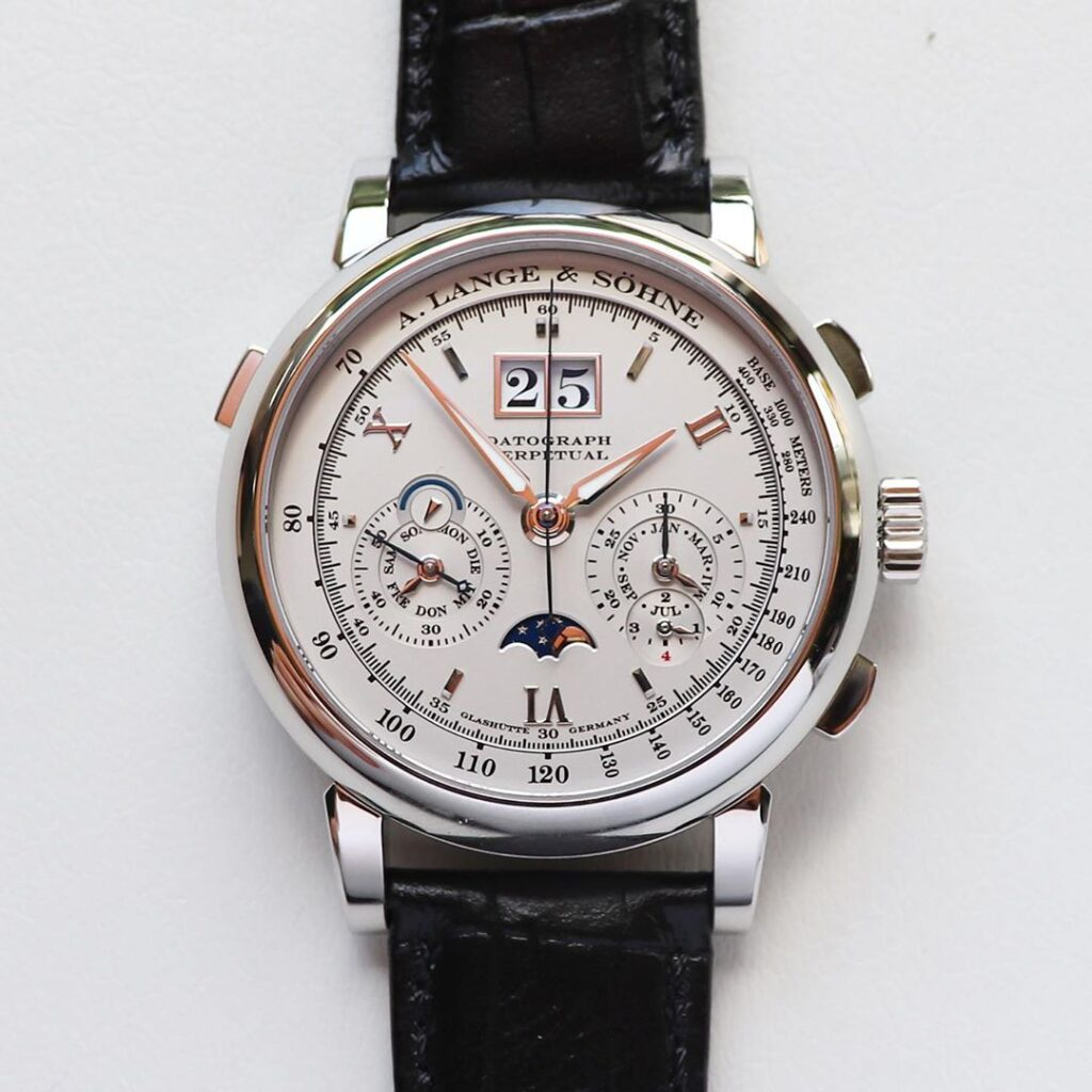 Buy A. Lange & Söhne Datograph Perpetual platinum white gold 410.025 410.038