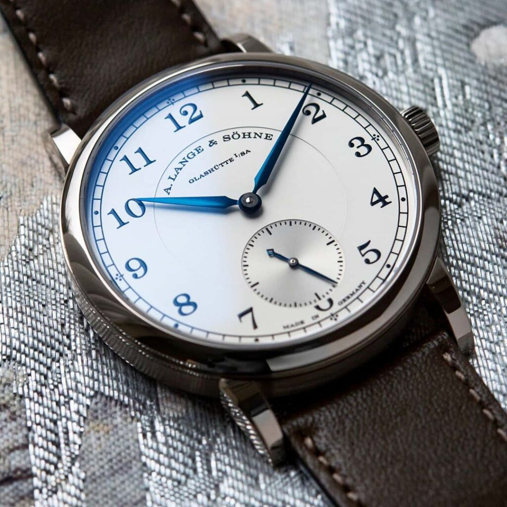 A Lange Sohne Lange 1815 white gold blue hands case 38.5 mm 235.026 review