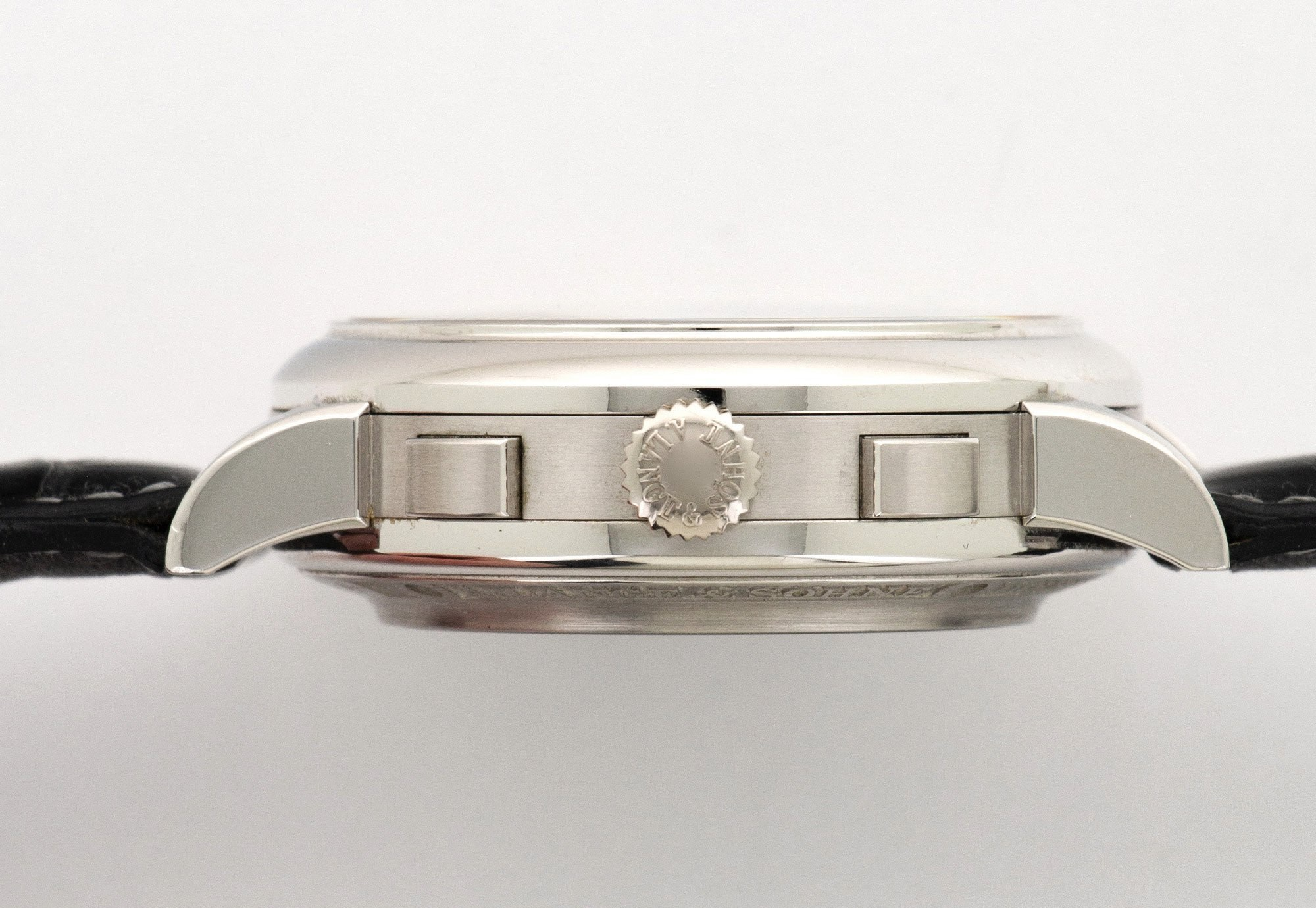 A Lange Söhne Double Split rattrapante chronograph platinum 404.035 caseband