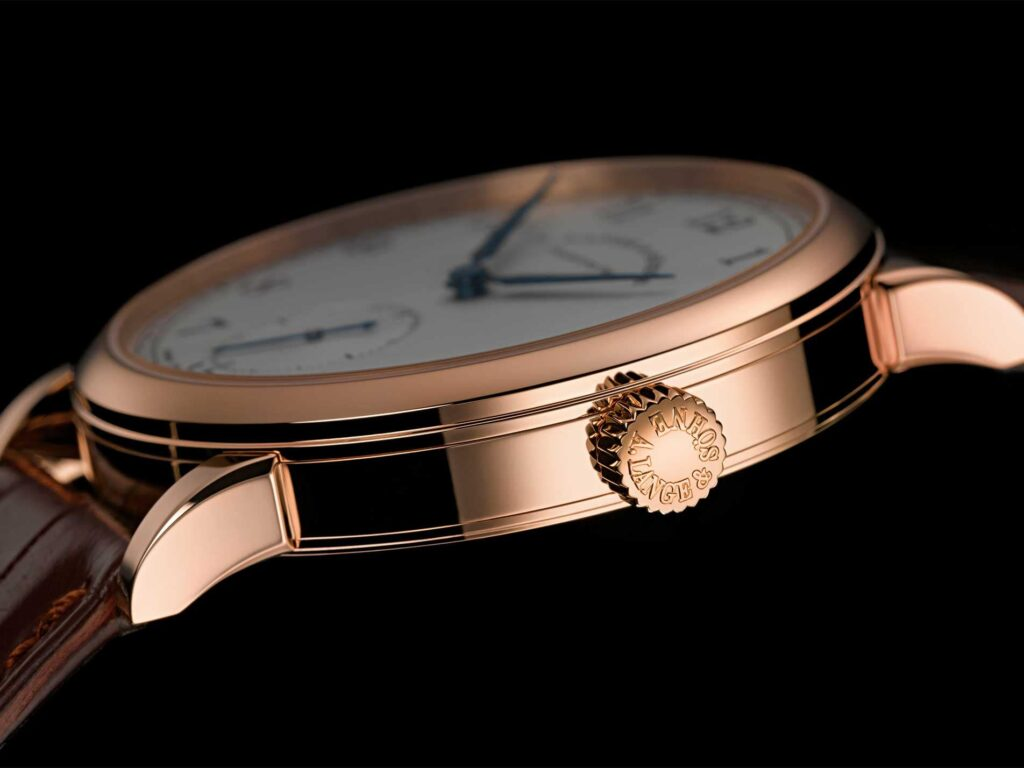 A Lange söhne 1815 pink gold blue hands 235.032 38.5 mm case finish review