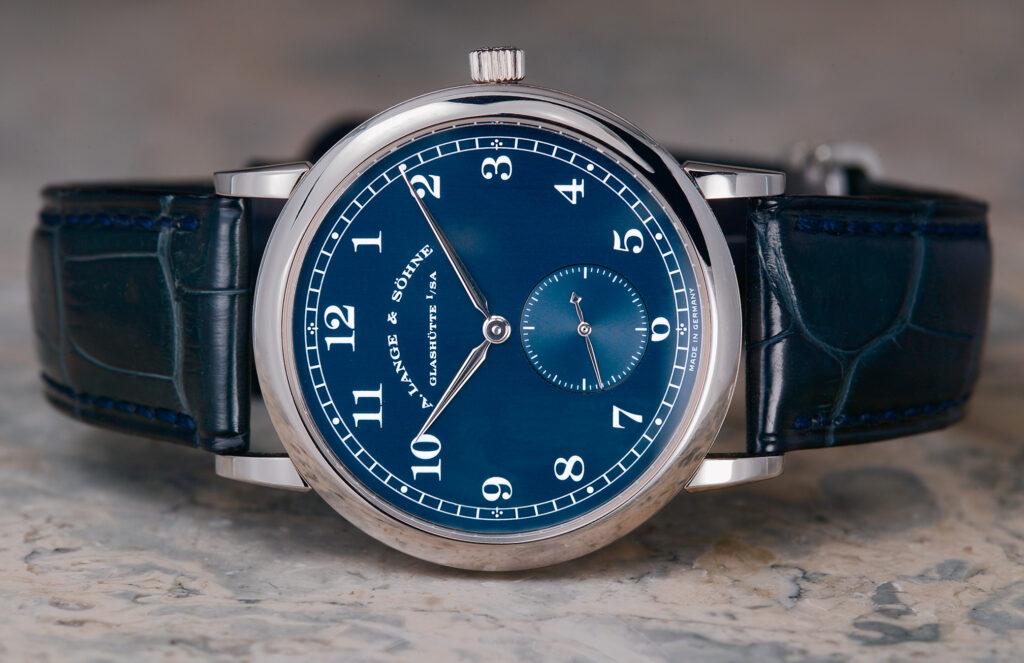 a lange söhne lange 1815 rare white gold blue dial 206.027 review langepedia