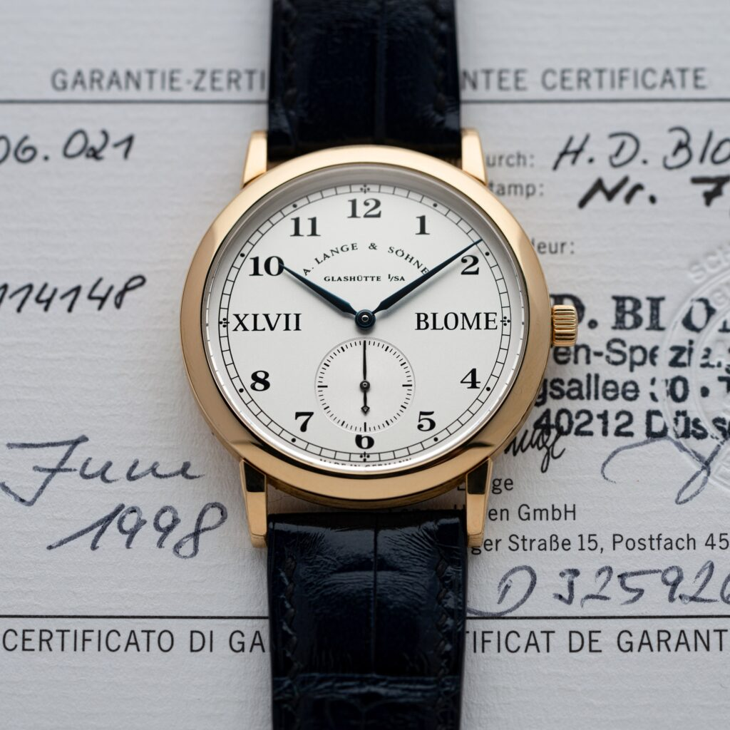 a lange söhne lange 1815 blome double signed special edition yellow gold 36 mm review singaporewatchclub