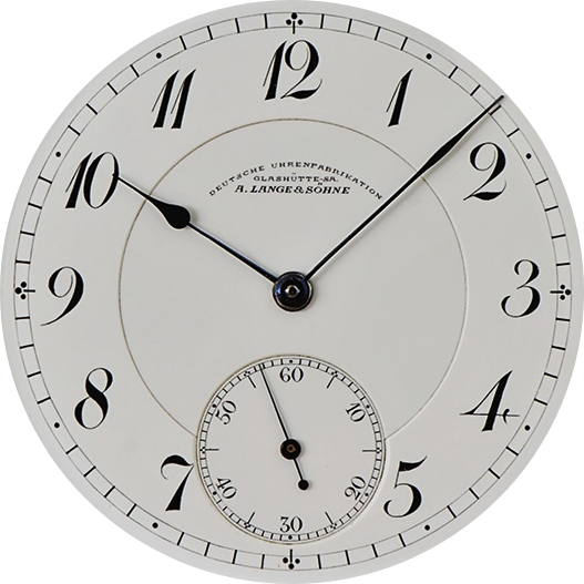 A Lange Sohne Lange 1815 pocket watch details