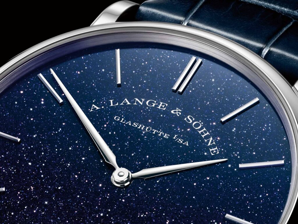 A Lange söhne Saxonia aventurine white gold blue dial special edition 205.086 review