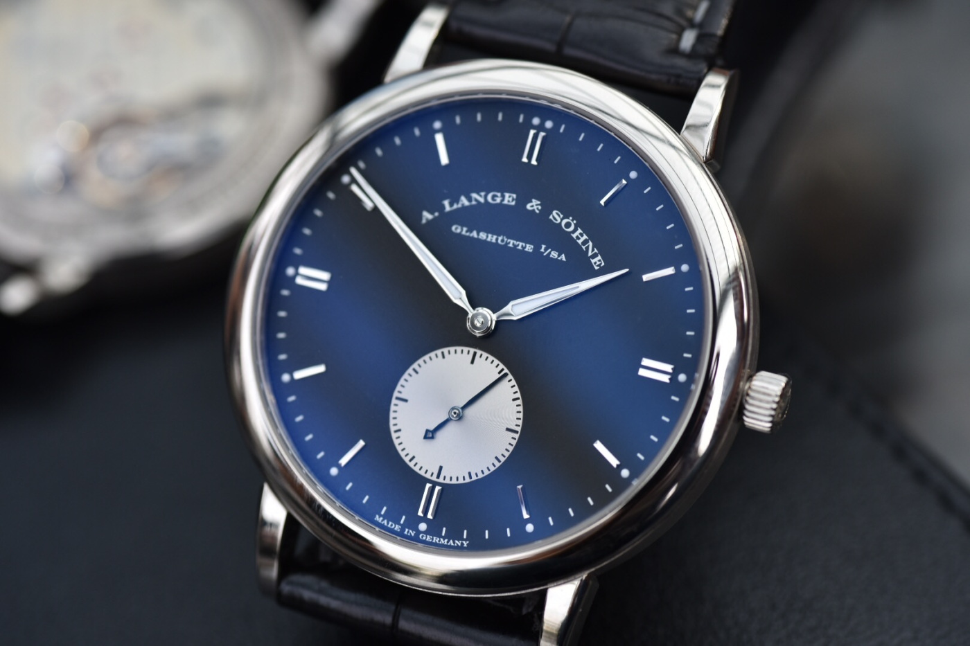 A Lange söhne Saxonia white gold black dial 37 mm special edition Japan 215.049 review