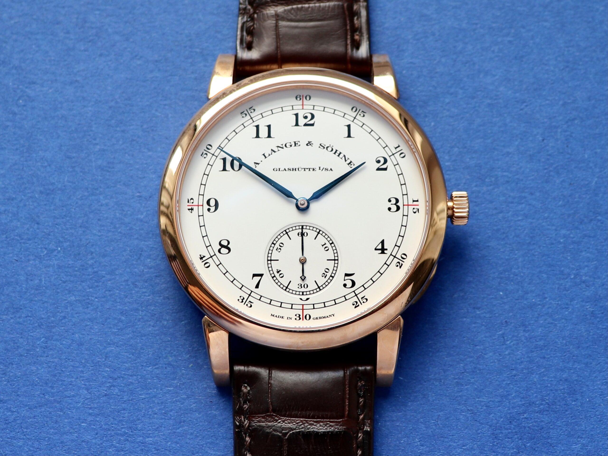 a lange sohne 1815 cuvette oeding erdel special edition pink gold 323.047 dial