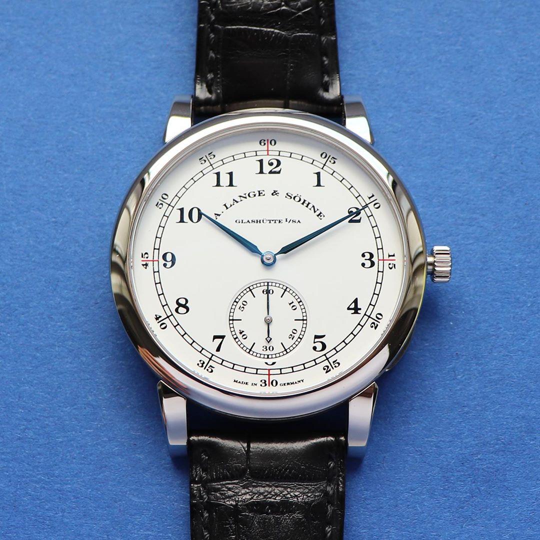 a lange 1815 cuvette oeding erdel white gold white dial 323.046 dial