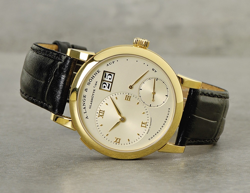 early A Lange Söhne original Lange 1 yellow gold 101.001 solid caseback