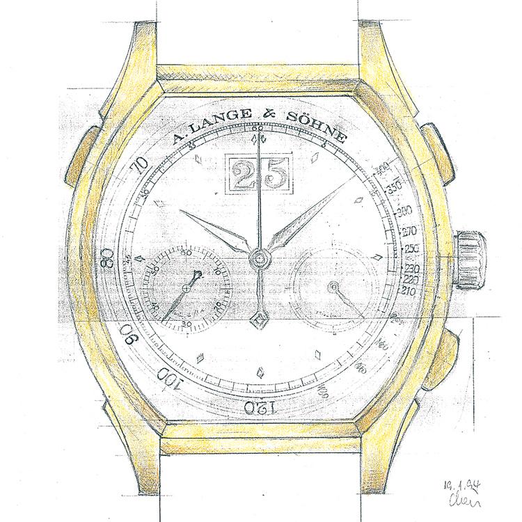 a lange söhne datograph earliest design chronograph reinhard meis