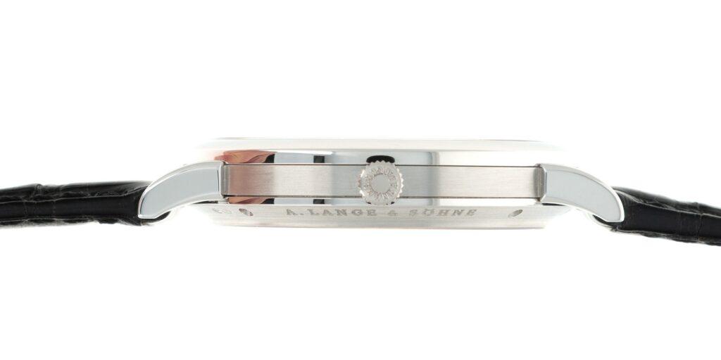 a lange Söhne langematik anniversary 302.025 platinum enamel dial special edition case band review