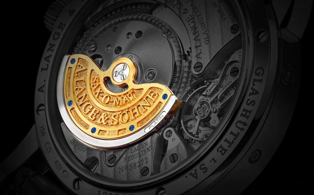 A. Lange & Söhne Caliber L921.2 platinum solid gold rotor langematik