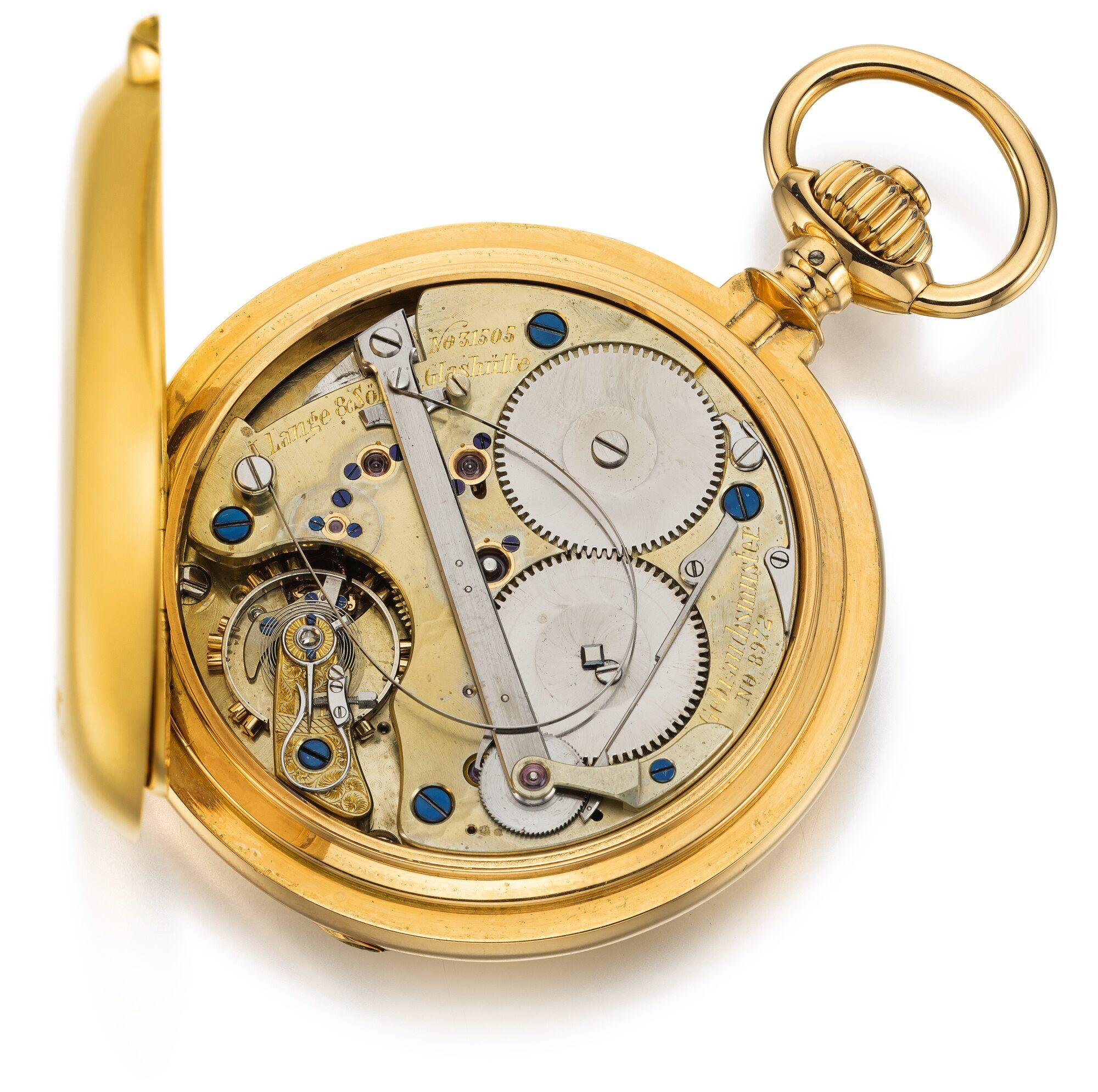 A Lange sohne automatic self winding pocket watch