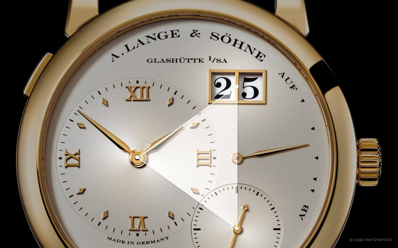 Lange 1 design   yellow gold