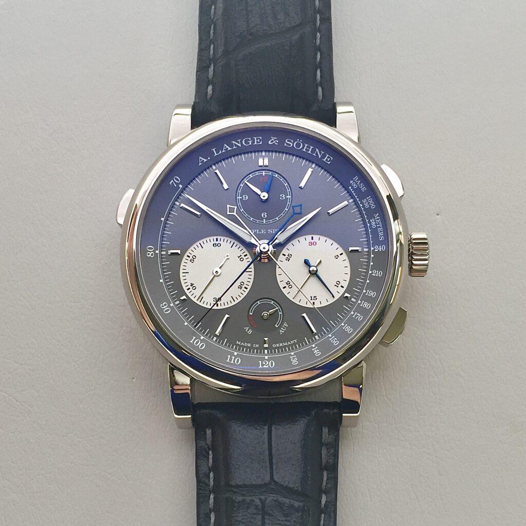 Triple Split white gold grey dial