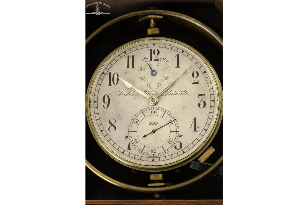 Fridolin Stübner marine chronometer from Glashütte