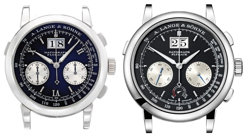 A Lange Söhne Datograph comparison 403.035 and 405.035 side by side