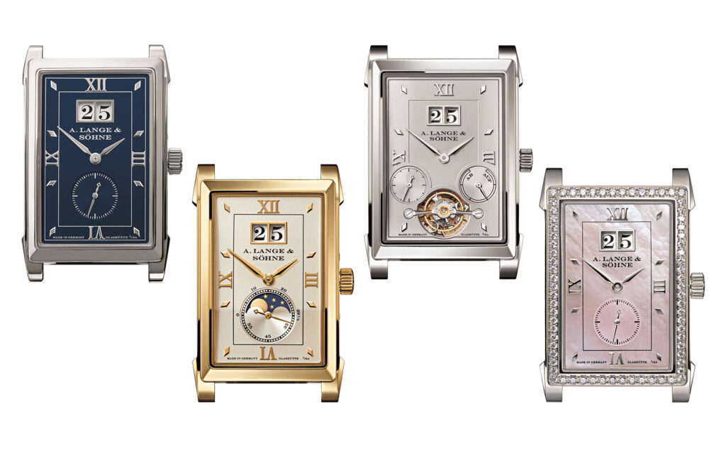 a lange söhne cabaret collection in all metals and references