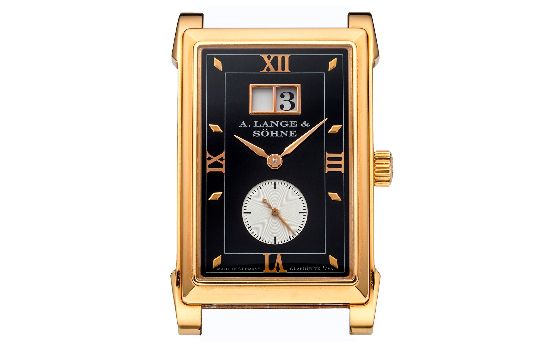 a lange söhne cabaret pink gold two tone dial 107.032 rectangular case