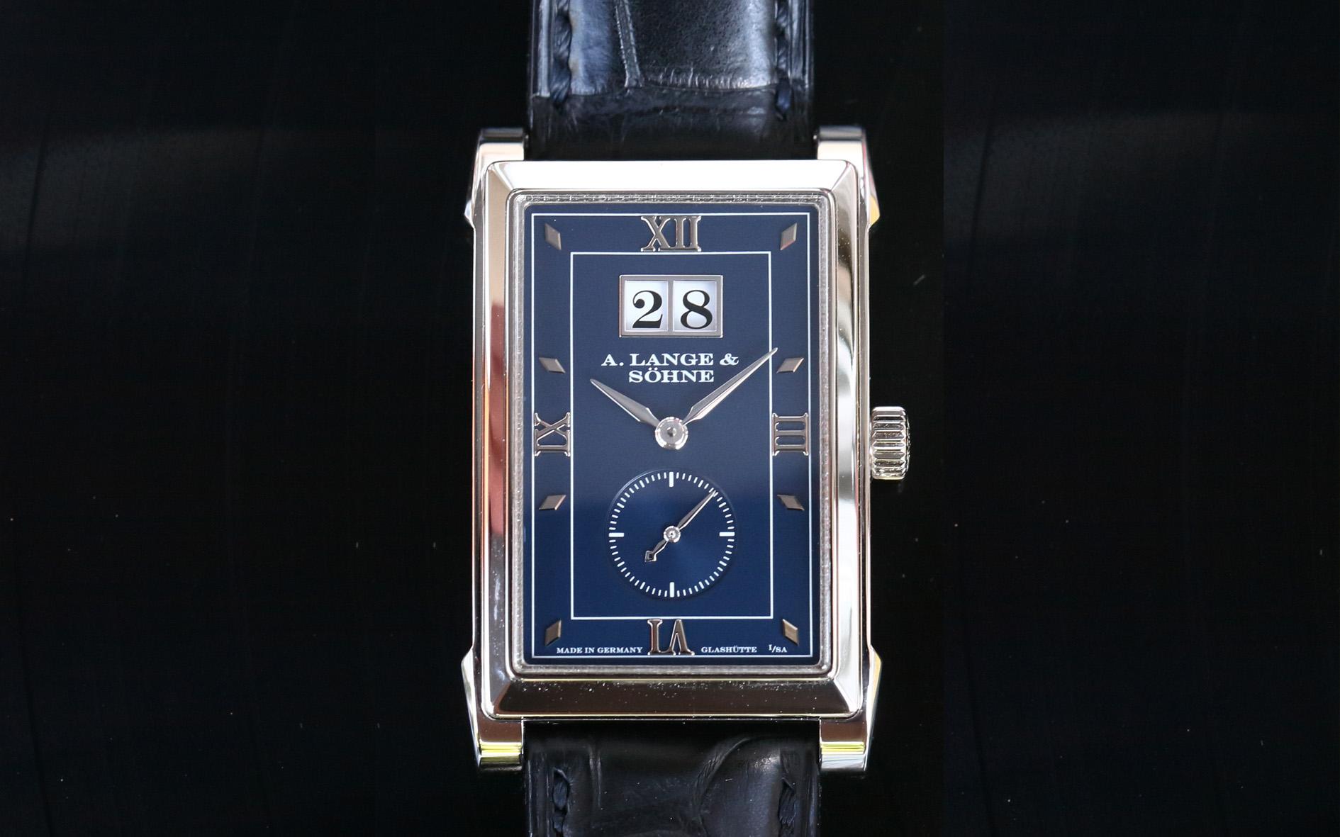 a lange söhne cabaret white gold blue dial reference 107.027