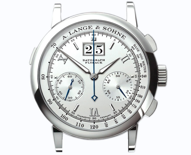 a lange söhne datograph in platinum silver dial pisa edition 403.025X
