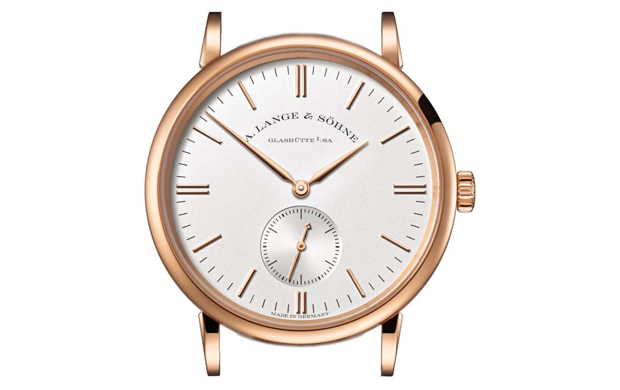 a lange söhne saxonia pink gold white dial 35 mm 219.032 case and dial proportions