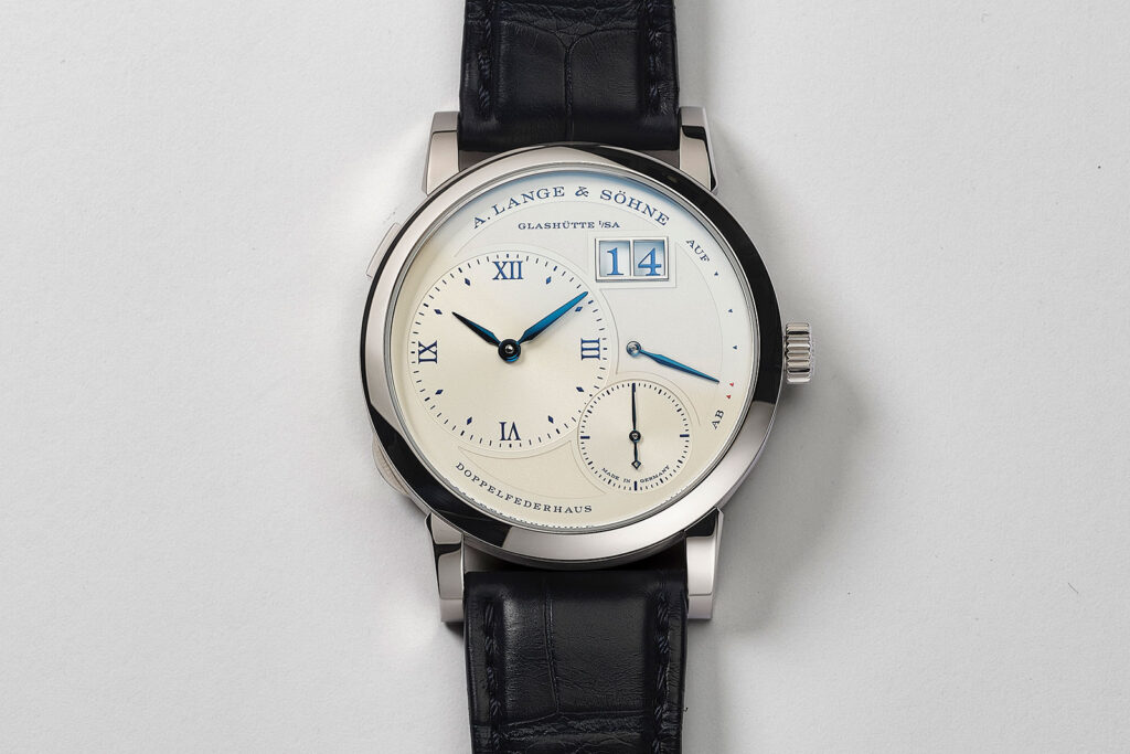 a lange söhne lange1 25th anniversary 191.066 white gold silver dial special edition