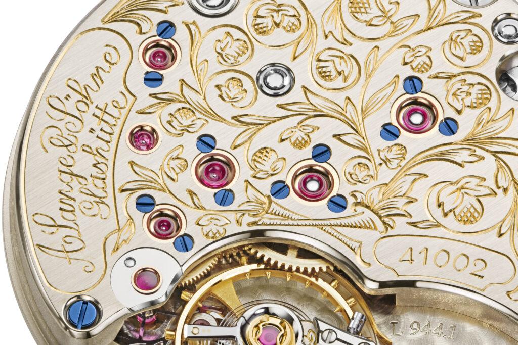 a lange söhne side step wempe caliber l944.1 engraving floral