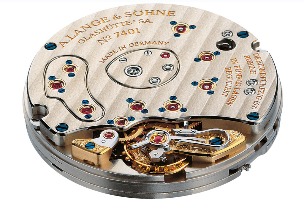 a lange söhne caliber l901.1 with golden balance system
