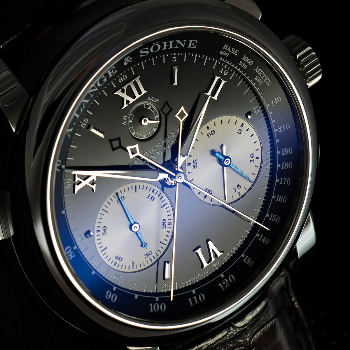 a lange söhne double split chronograph reference 404.035 discontinued