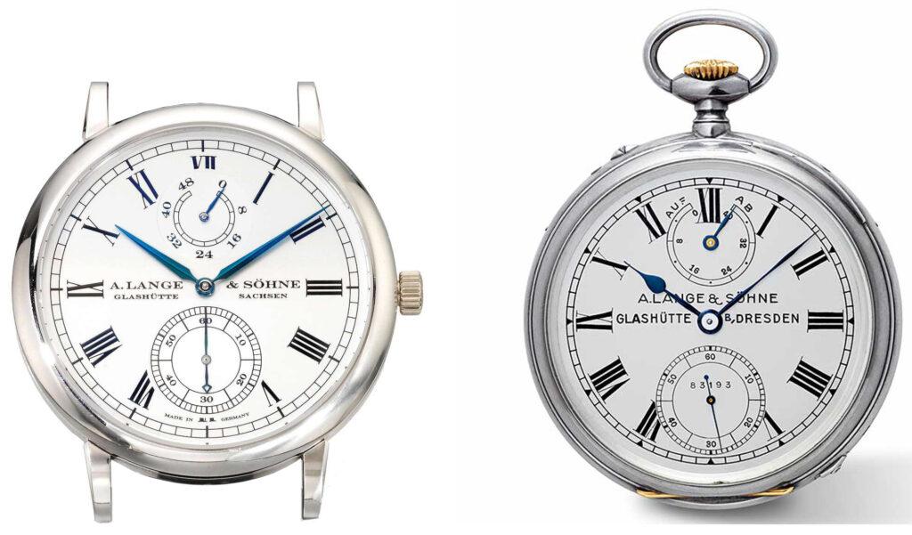 a lange söhne grosse langematik gangreserve and marine chronometer