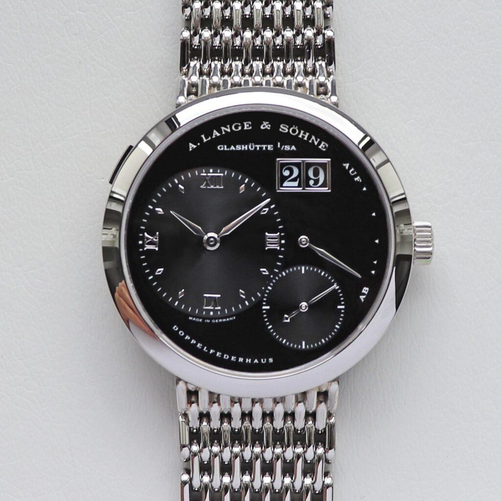 a lange söhne lange 1 darth 151.035 platinum black dial wellendorff bracelet
