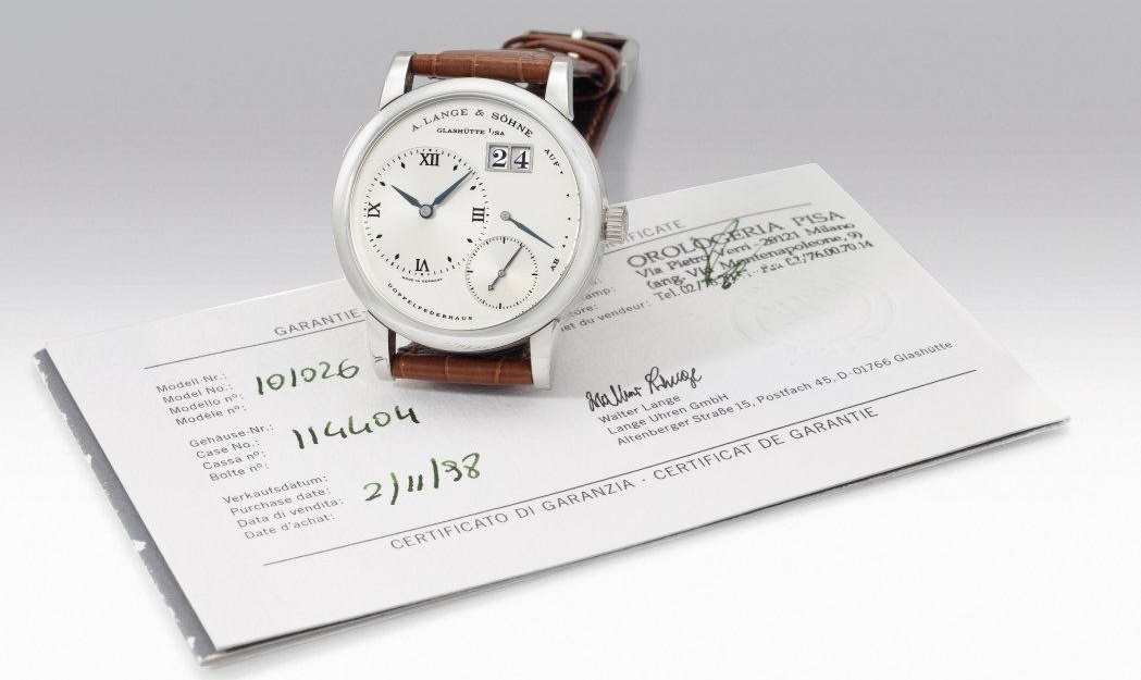 a lange söhne lange 1 stainless steel reference 101.026