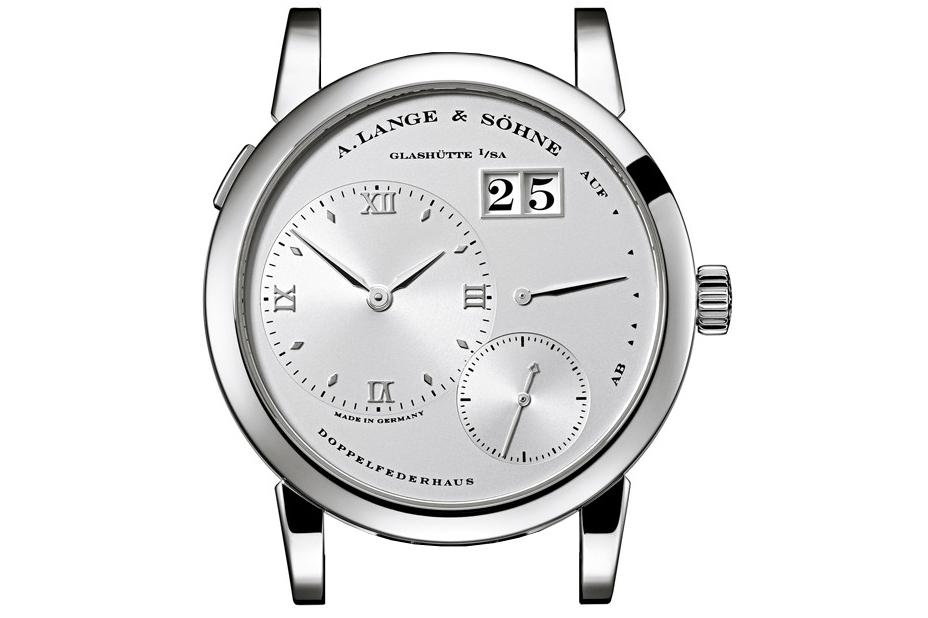 a lange söhne lange 1 stealth platinum silver dial