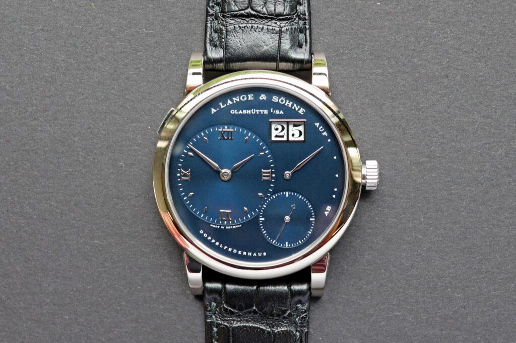a lange söhne lange 1 white gold blue dial 101.027