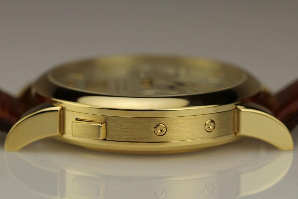 a lange söhne langematik perpetual yellow gold 310.021 corrector pusher