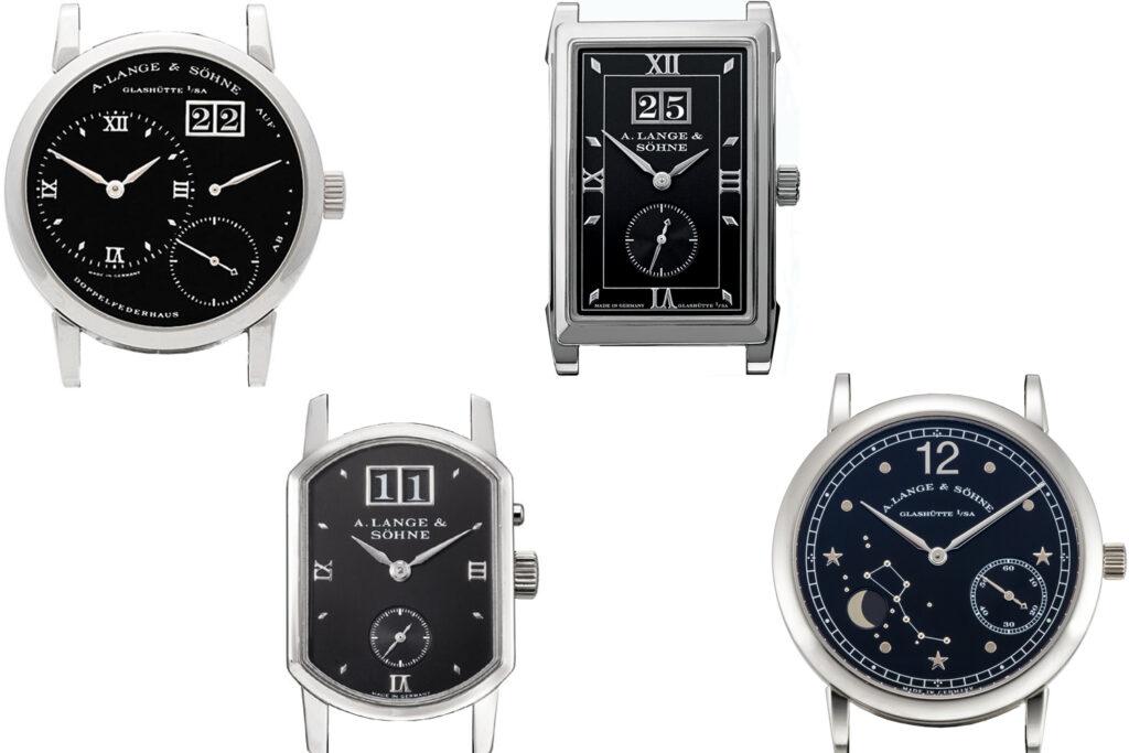 a lange söhne platinum black dial darth collection
