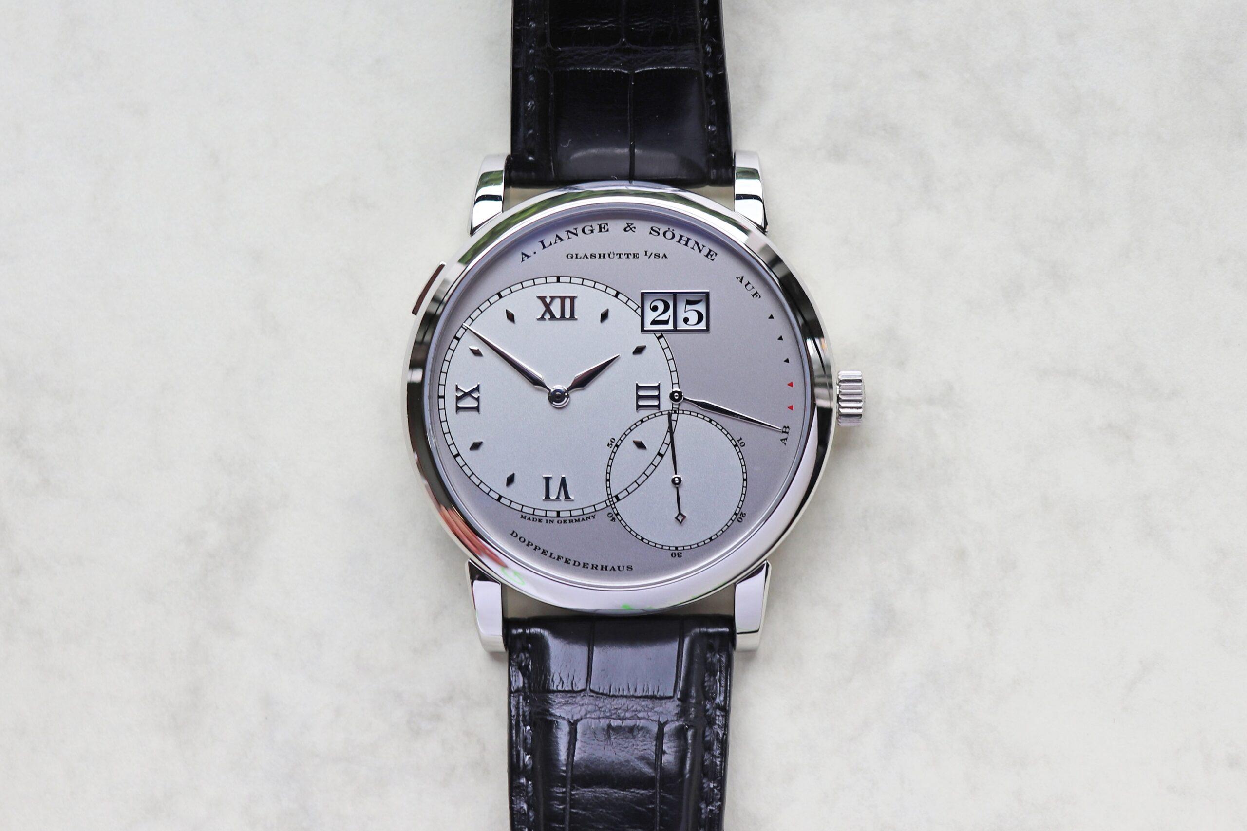 Grand Lange 1 in platinum case reference 115.025