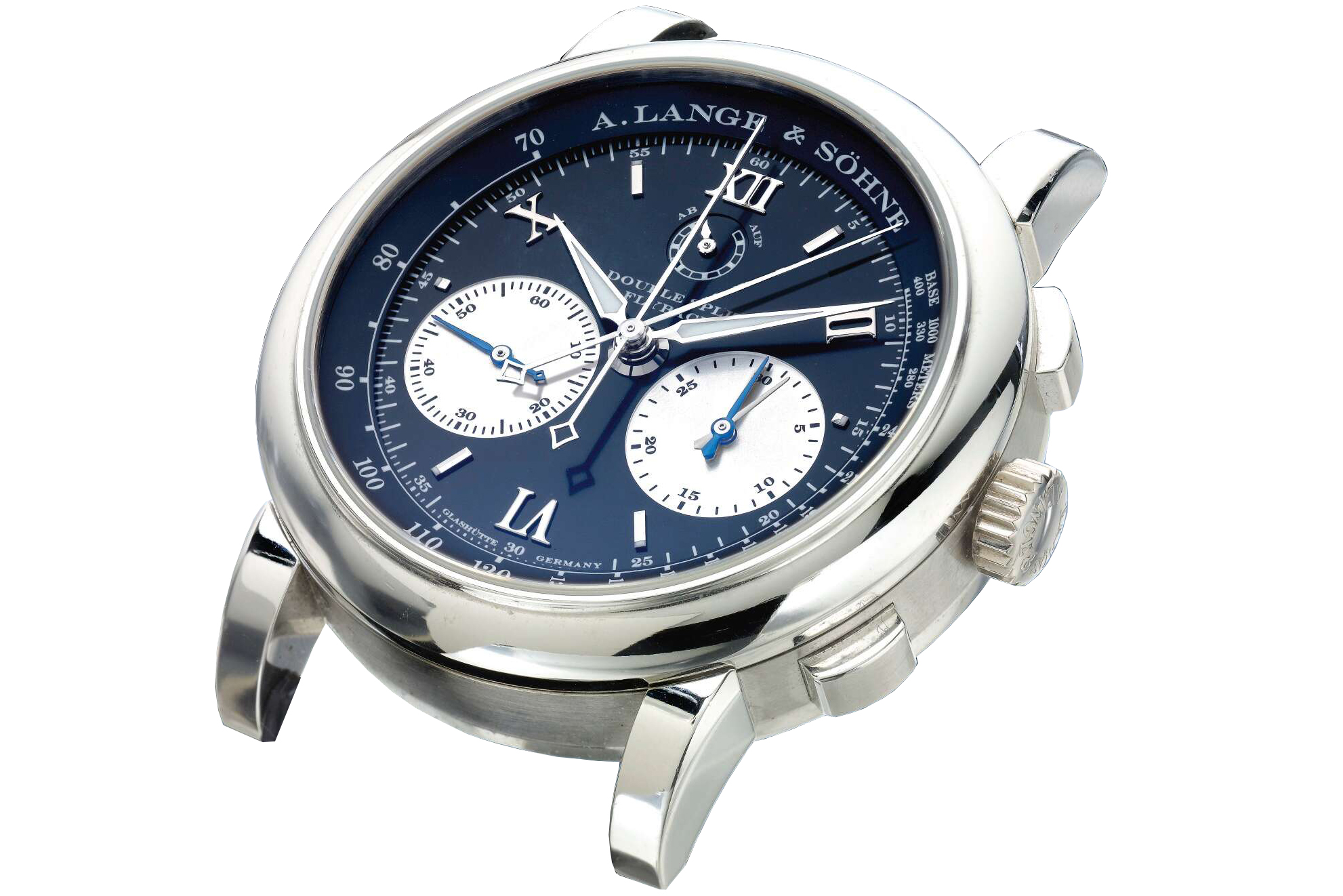 stainless steel double split rattrapante chronograph 404.035