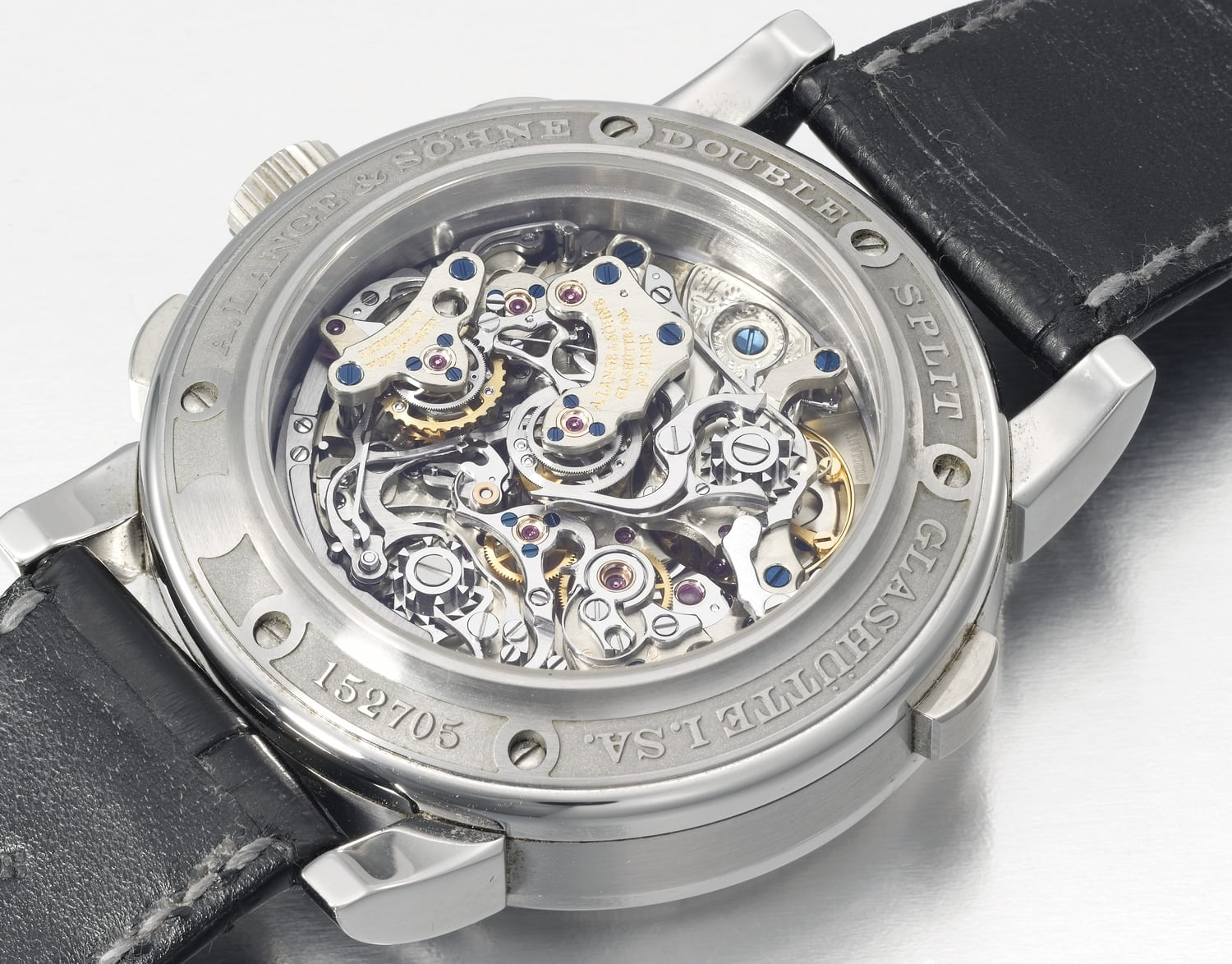stainless steel double split chronograph caliber l001.1