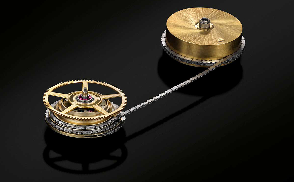 fusee and chain mechanism of the caliber l044.1