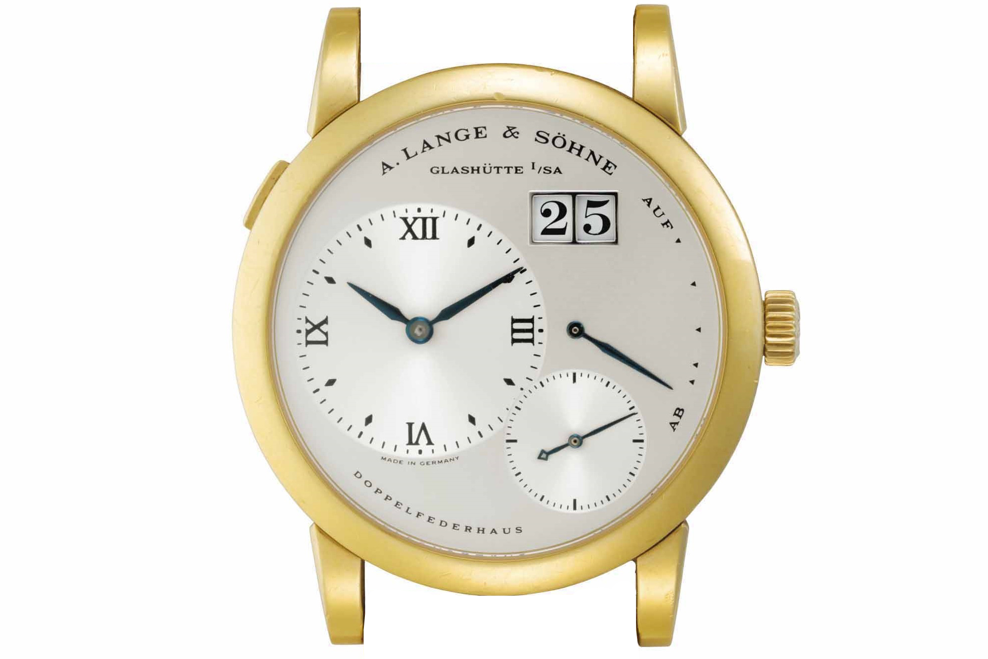 lange 1 in yellow gold case with blued hands reference 101.022