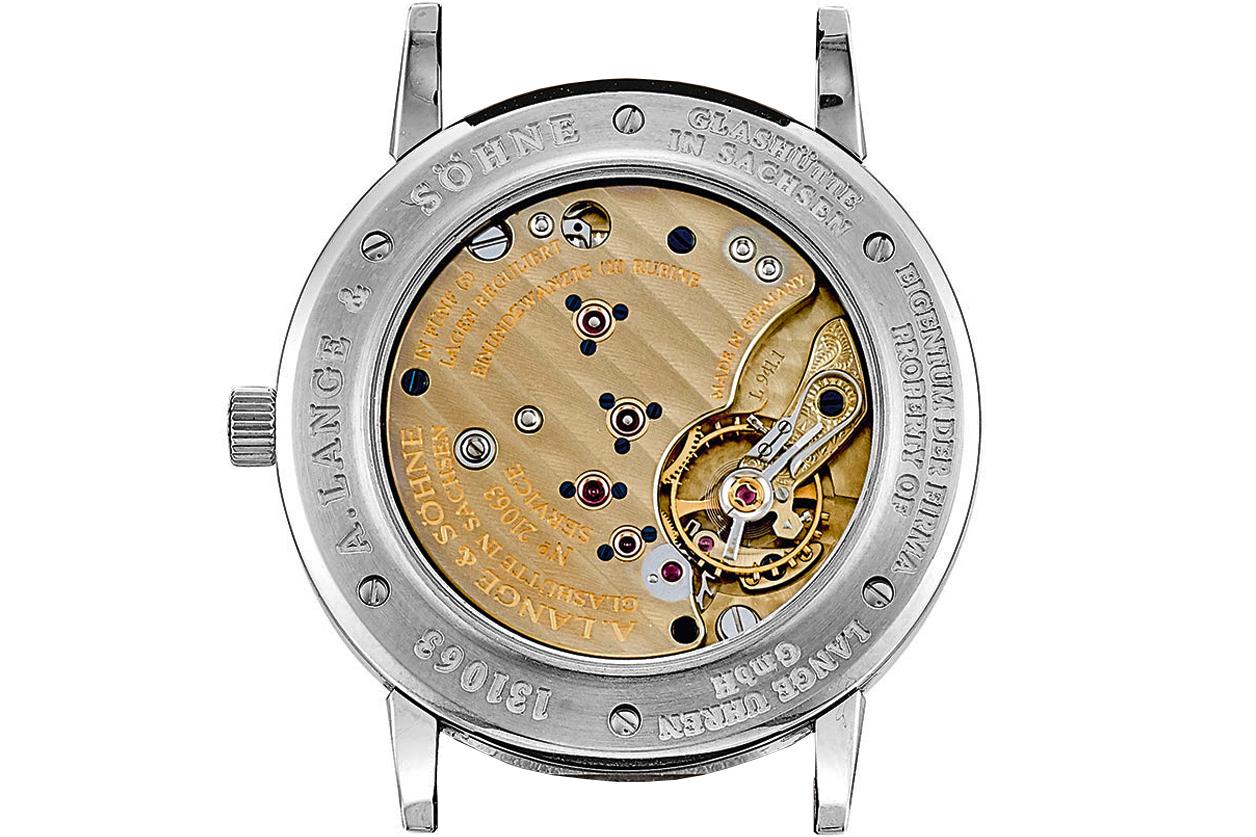 lange 1815 steel service watch caseback