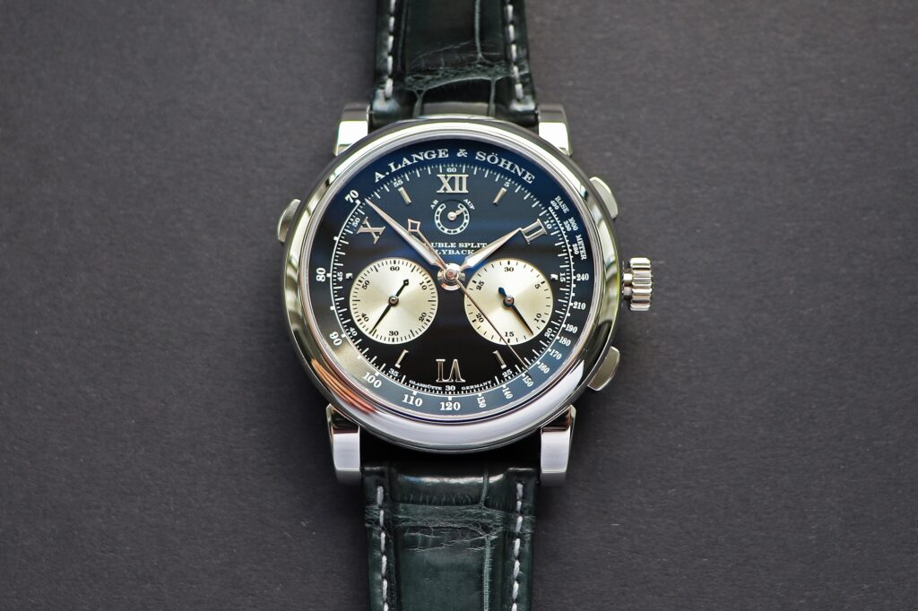 lange double split in platinum reference 404.035