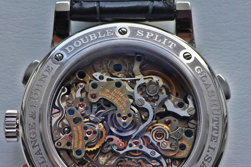 lange double split 404.035 case back ring in platinum movement l001.1