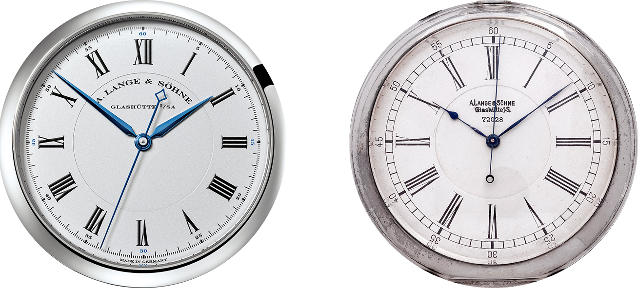 richard lange pocket watch inspiration with jumping seconds