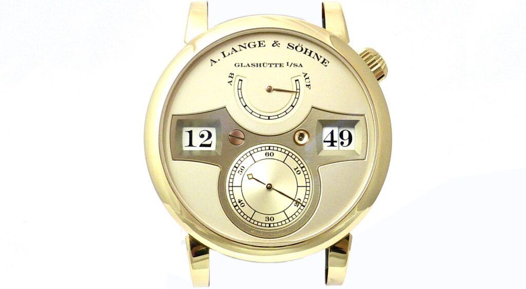 """A Lange Söhne """"Zeitwerk"""" yellow gold"""