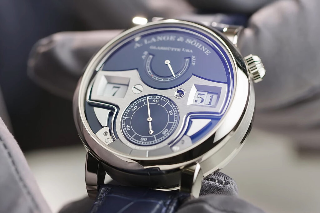 "A Lange Söhne ""Zeitwerk Minute Repeater"" blue"