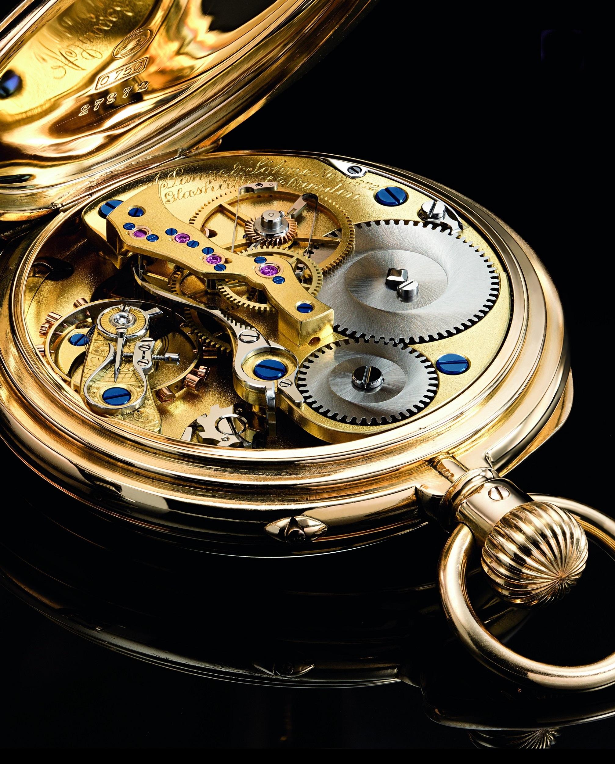 Homage to Walter Lange pocket watch
