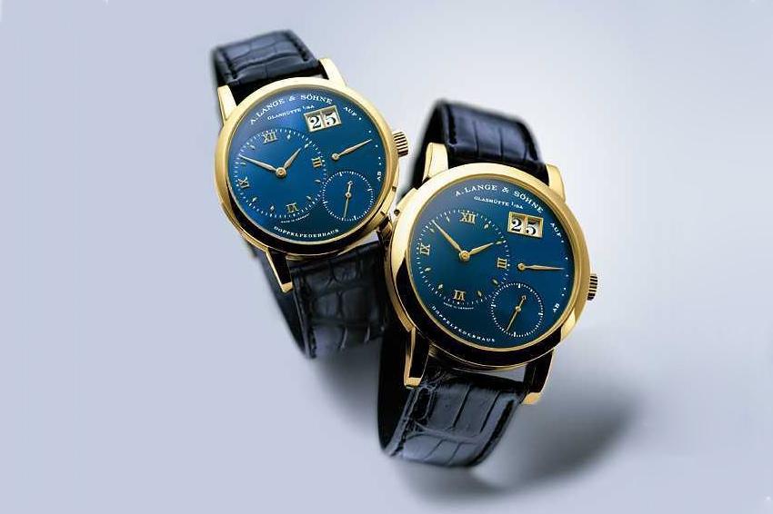 Lange 1 Yellow Gold Blue Dial 101.028