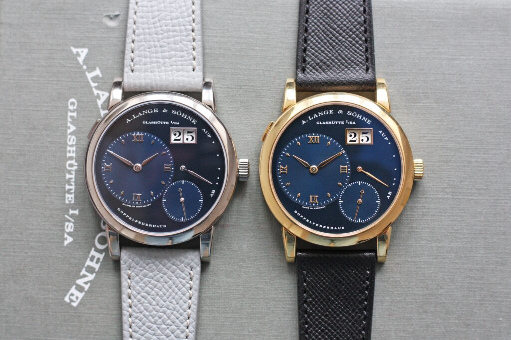 Lange 1 Blue Dial 101.028 and 101.027